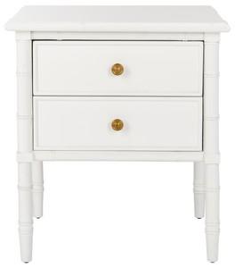 Mina 2 Drawer Nightstand Item Nst3501b Color White