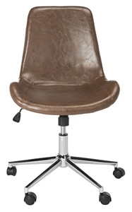 Superbe FLETCHER SWIVEL OFFICE CHAIR Item: OCH7501A Color: Brown / Chrome