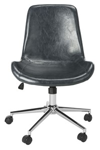 FLETCHER SWIVEL OFFICE CHAIR Item: OCH7501C Color: Dark Grey / Chrome