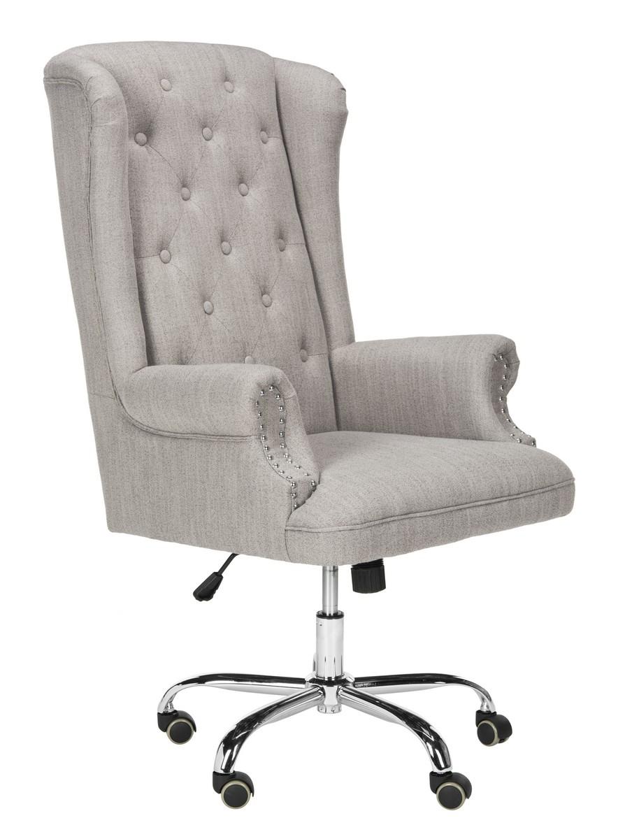 chair bel posts impressive linen aire height swivel office three no adjustable grey reviews wheels desk attractive tufted regarding