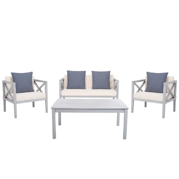 Pat7031h Patio Sets 4 Piece Furniture By Safavieh