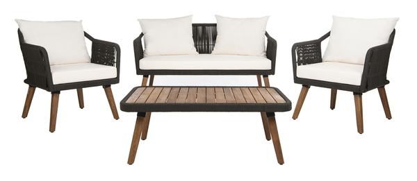 PAT7049B Patio Sets - 4 Piece - Furniture by Safavieh on Safavieh Raldin id=14224