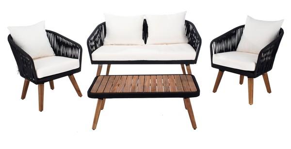 PAT7074B Patio Sets - 4 Piece - Furniture by Safavieh on Safavieh Ransin id=58501