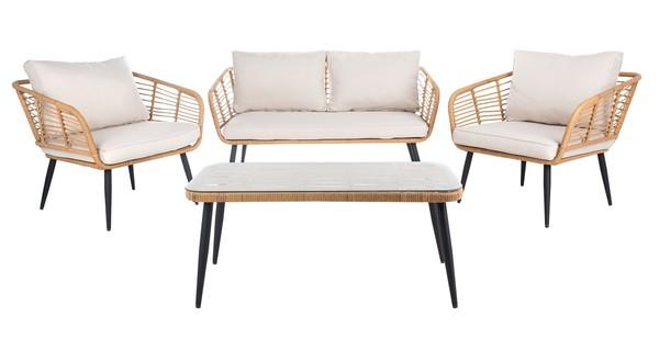 Pat9006c Patio Sets 4 Piece, Safavieh Outdoor Furniture Gray