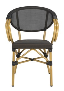 BURKE STACKING ARM CHAIR Item: PAT4015A SET2 Color: Black
