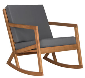 VERNON ROCKING CHAIR Item: PAT7013D Color: Natural / Grey