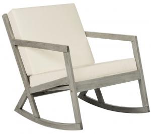 Amazing VERNON ROCKING CHAIR Item: PAT7013E Color: Grey / Beige