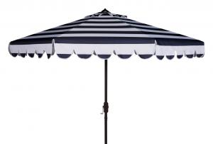 Attirant MAUI SINGLE SCALLOP STRIPED 9FT CRANK AUTO TILT UMBRELLA Item: PAT8011C  Color: Navy / White