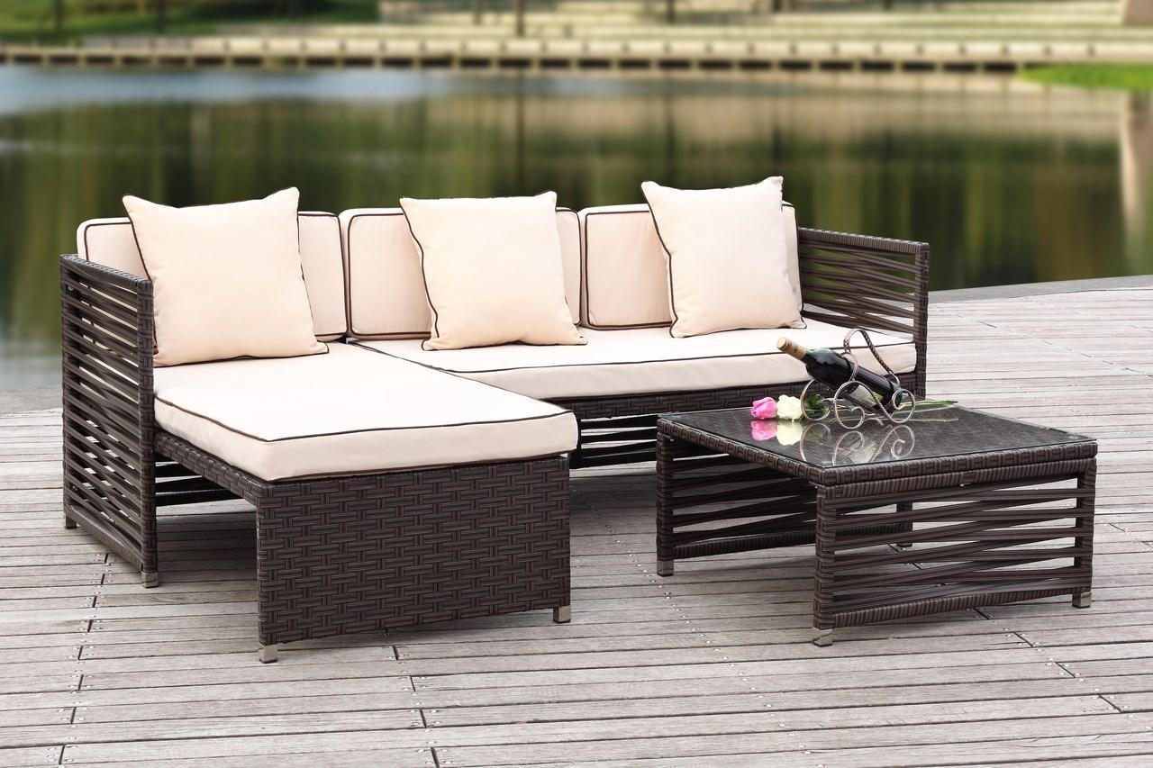 dark outdoor u dp amazon patio furniture sectional sofa modenzi com espresso brown beige sectionals wicker set garden