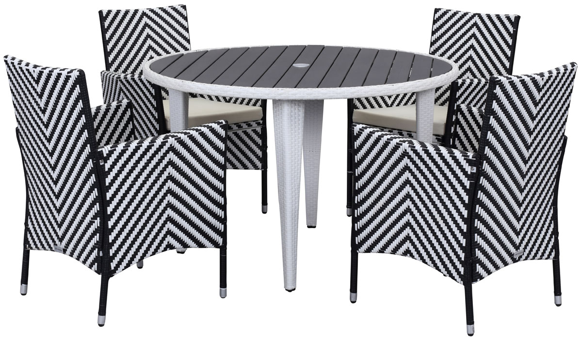PATIO SETS   5 PIECE OUTDOOR DINING SETS