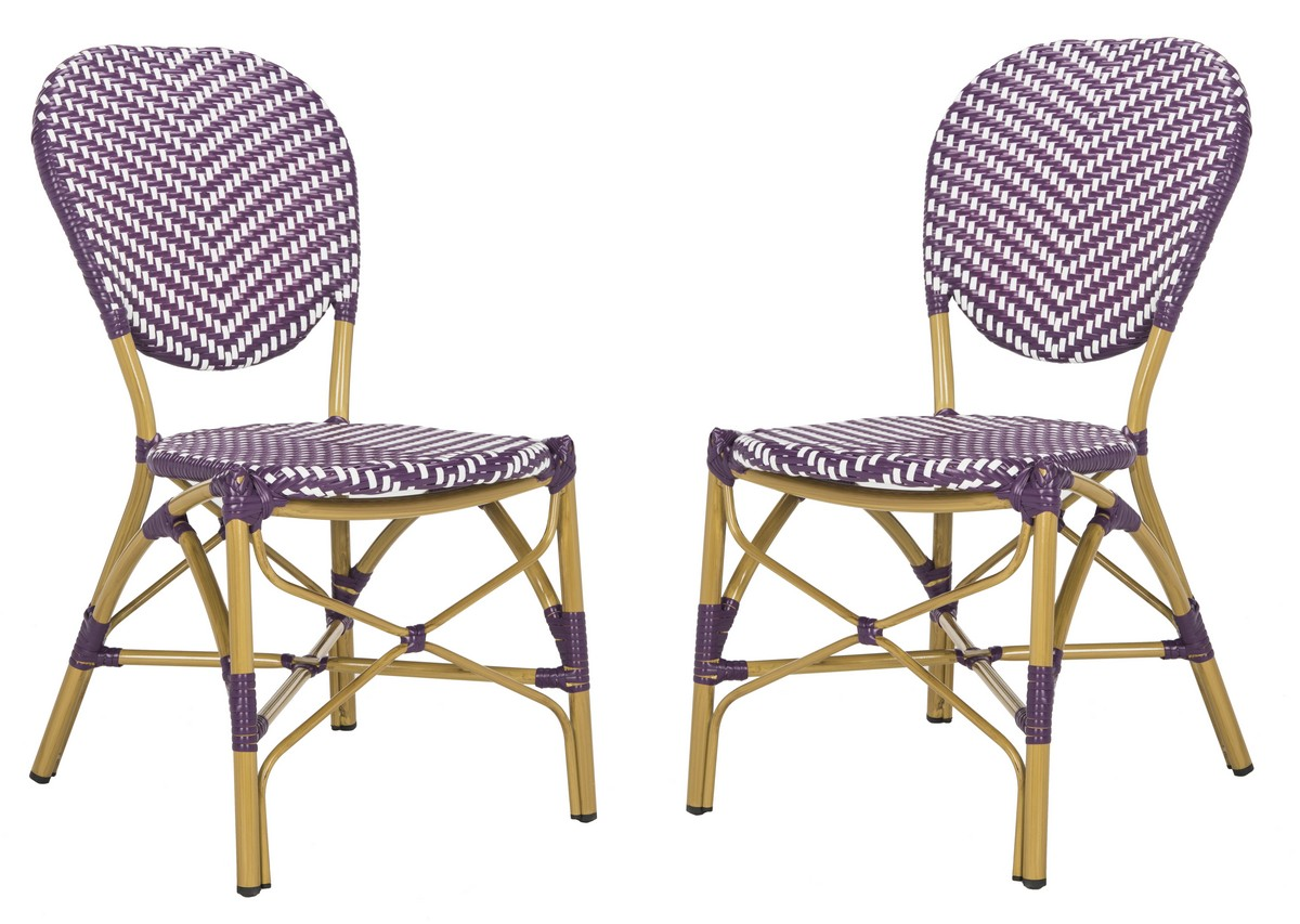 LISBETH FRENCH BISTRO STACKING SIDE CHAIR PAT4010C SET2 OUTDOOR DINING  CHAIRS
