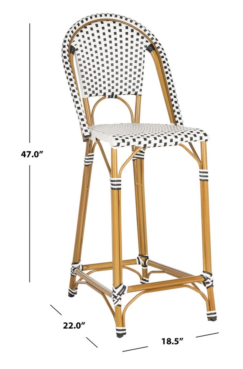 Terrific Pat4038A Bar Stools Outdoor Bar Stools Furniture By Safavieh Andrewgaddart Wooden Chair Designs For Living Room Andrewgaddartcom