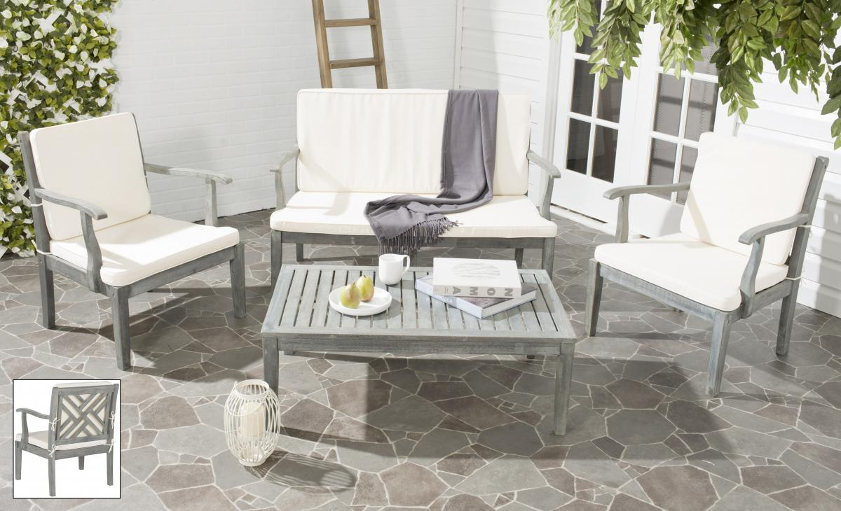 PAT6710B Patio Sets - 4 Piece - Furniture by Safavieh