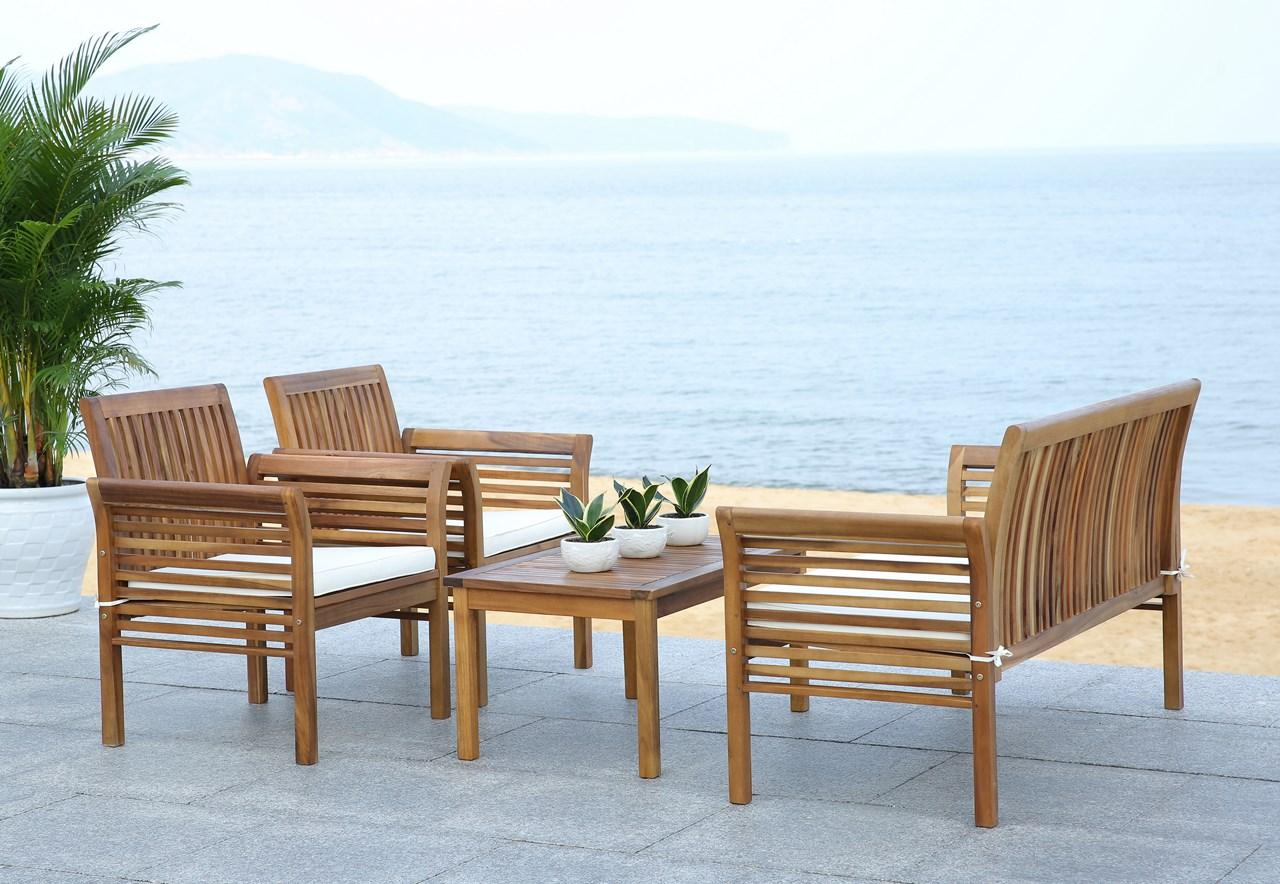 PAT7005A Patio Sets - 4 Piece - Furniture by Safavieh
