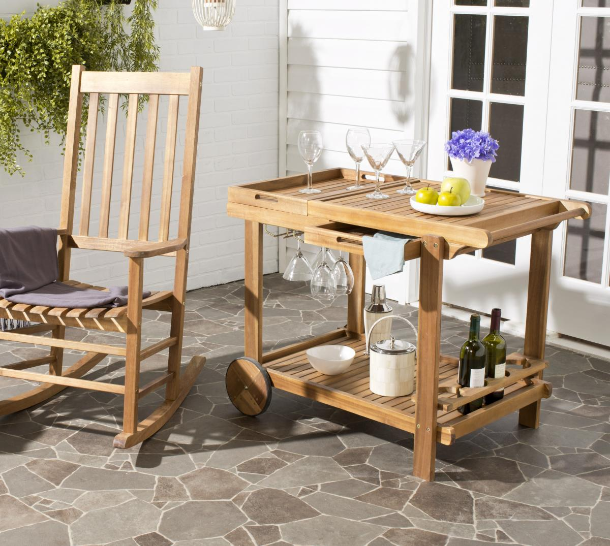 Safavieh Home Furniture: PAT7010A Bar Carts, Outdoor Bar, Outdoor Home Furnishings