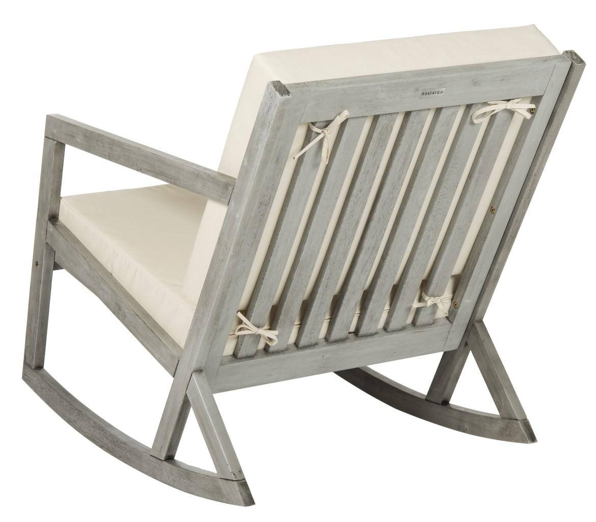 with a nod to handcrafted shaker this elegant outdoor rocking chair is destined to become a new american classic