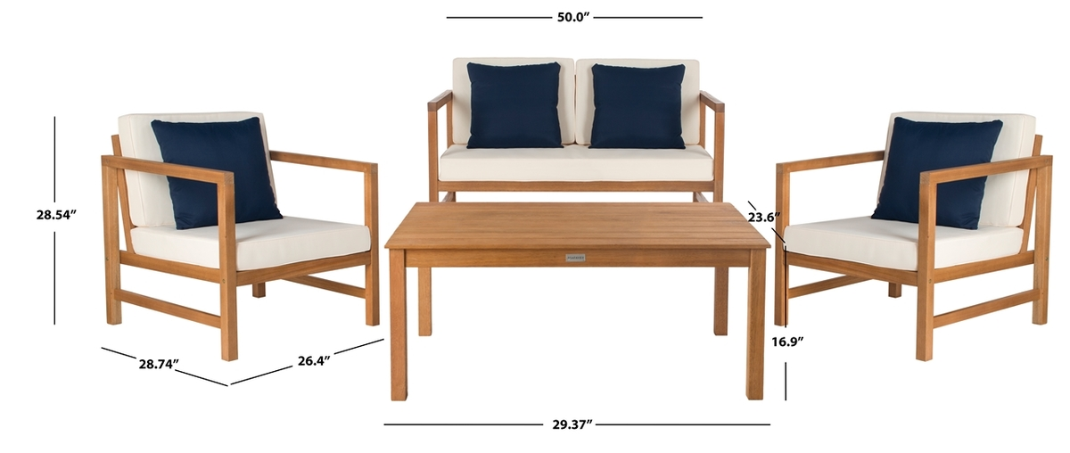 Pat7030a Patio Sets 4 Piece Furniture By Safavieh