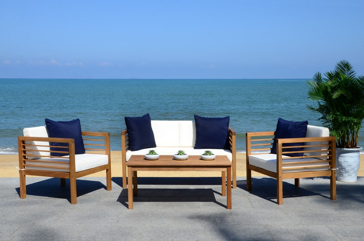 Pat7033a Patio Sets 4 Piece Furniture By Safavieh