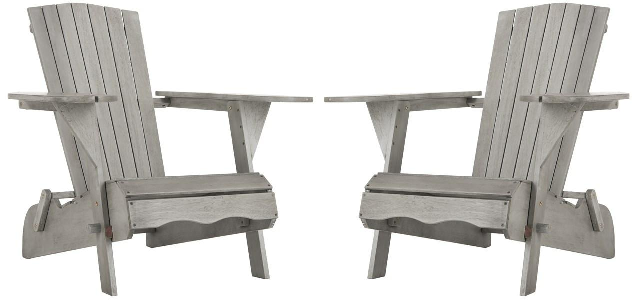 ADIRONDACK CHAIRS. Color Grey Wash. Save  sc 1 st  Safavieh.com & PAT7034B-SET2 Adirondack Chairs - Furniture by Safavieh