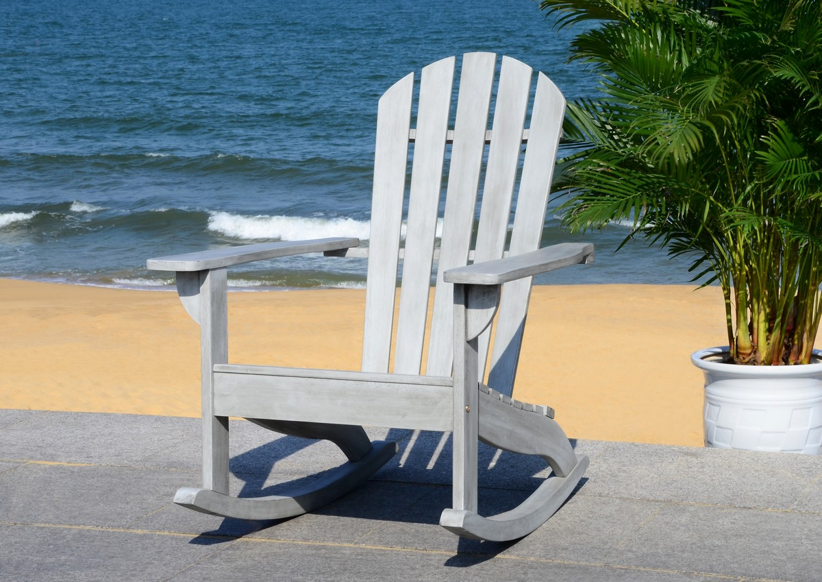 this traditional adirondack rocking chair was created for those who enjoy the outdoors from the first sign of spring until the first flake of