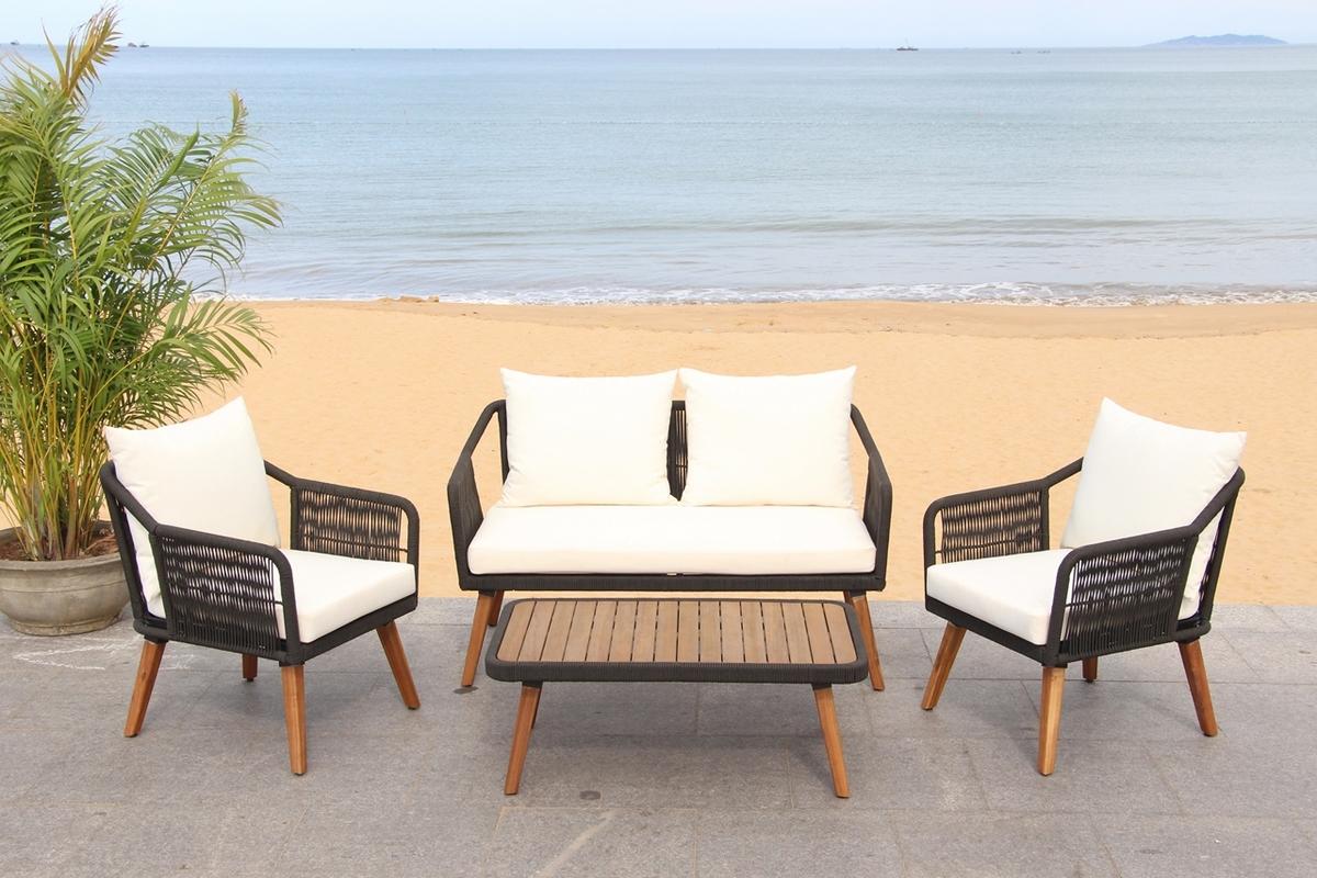 PAT7049B Patio Sets - 4 Piece - Furniture by Safavieh on Safavieh Raldin id=93626