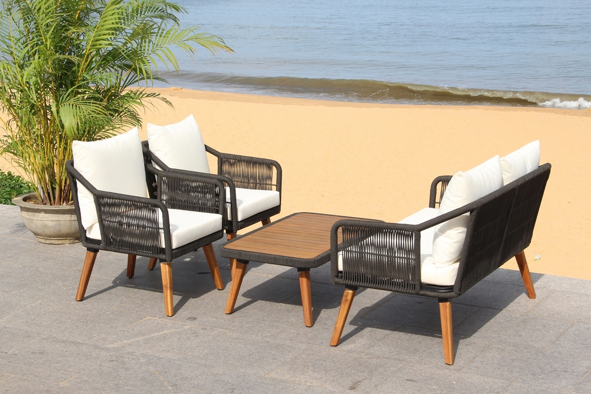 PAT7049B Patio Sets - 4 Piece - Furniture by Safavieh on Safavieh Raldin id=75798