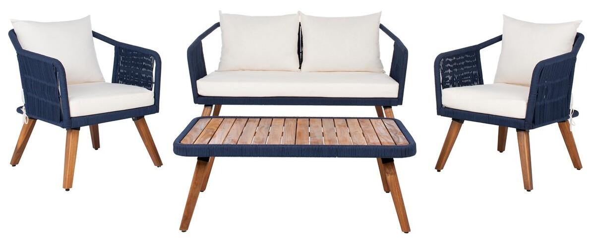 PAT7049E Patio Sets - 4 Piece - Furniture by Safavieh on Safavieh Raldin id=43445