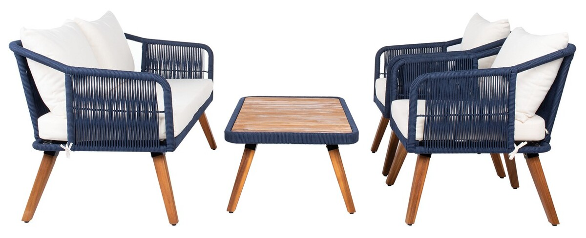 PAT7049E Patio Sets - 4 Piece - Furniture by Safavieh on Safavieh Raldin id=29108