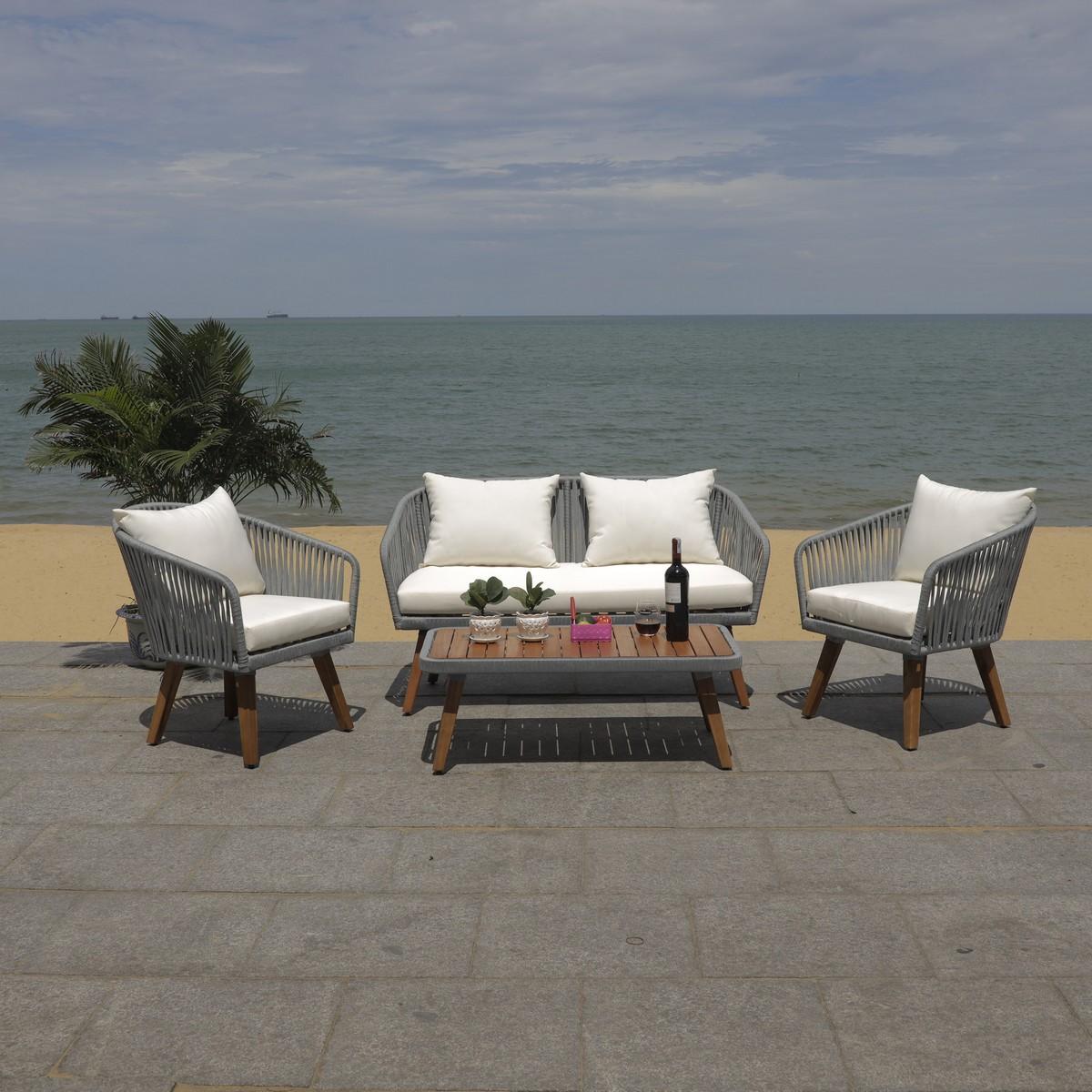 PAT7074A Patio Sets - 4 Piece - Furniture by Safavieh on Safavieh Ransin id=46492