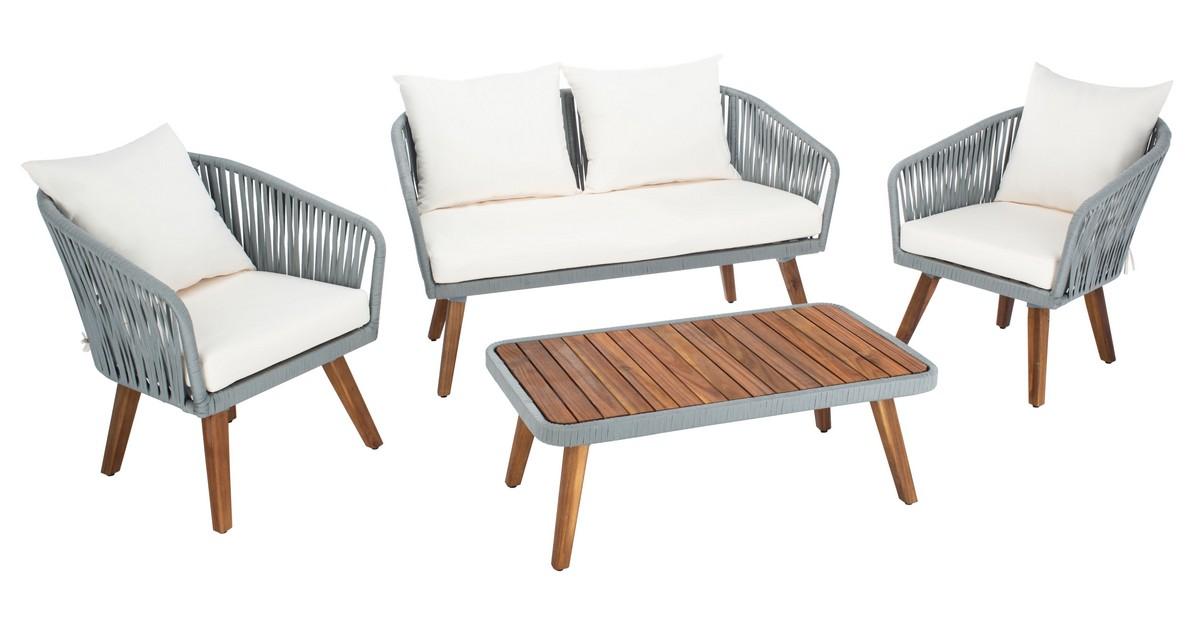 PAT7074A Patio Sets - 4 Piece - Furniture by Safavieh on Safavieh Ransin id=85110