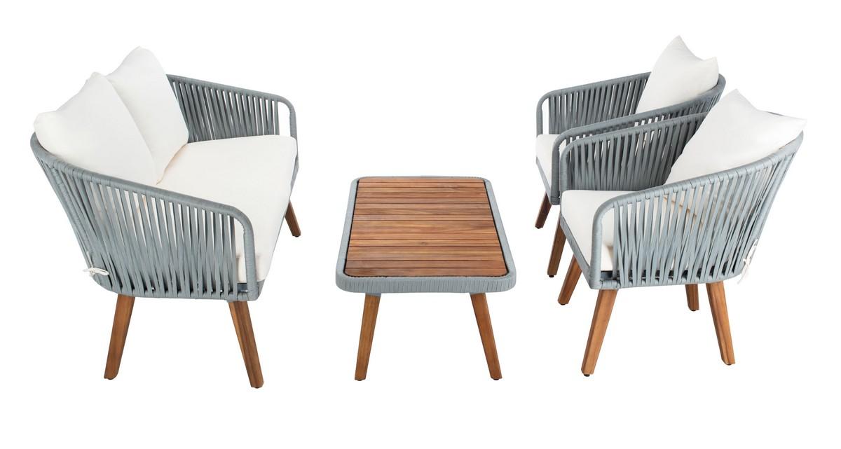 PAT7074A Patio Sets - 4 Piece - Furniture by Safavieh on Safavieh Ransin id=74699
