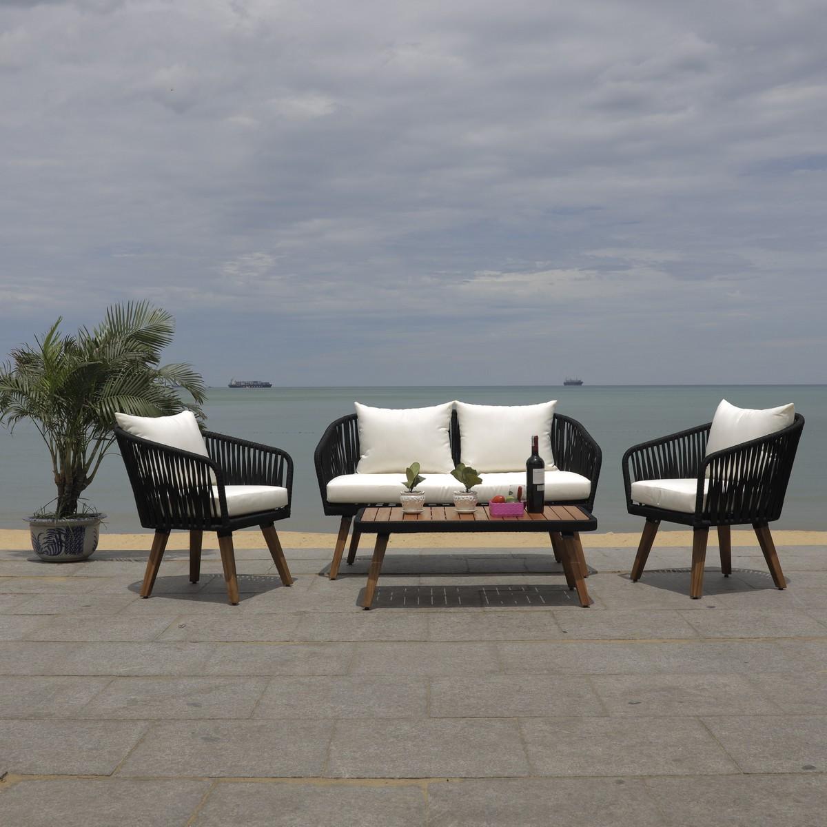 PAT7074B Patio Sets - 4 Piece - Furniture by Safavieh on Safavieh Ransin id=89784