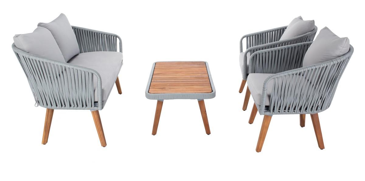 PAT7074C Patio Sets - 4 Piece - Furniture by Safavieh on Safavieh Ransin id=85978
