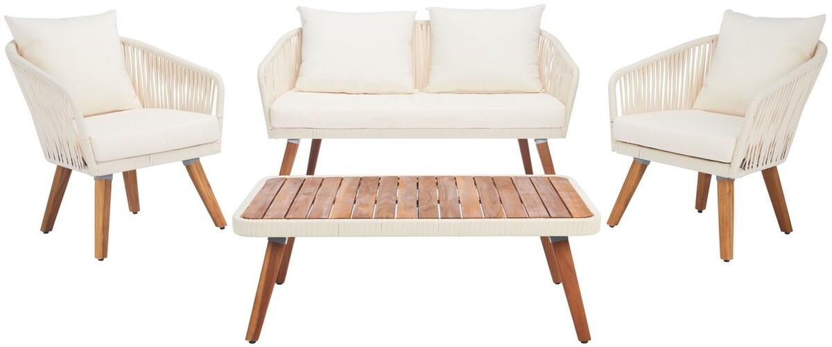 PAT7074D Patio Sets - 4 Piece - Furniture by Safavieh on Safavieh Ransin id=27523