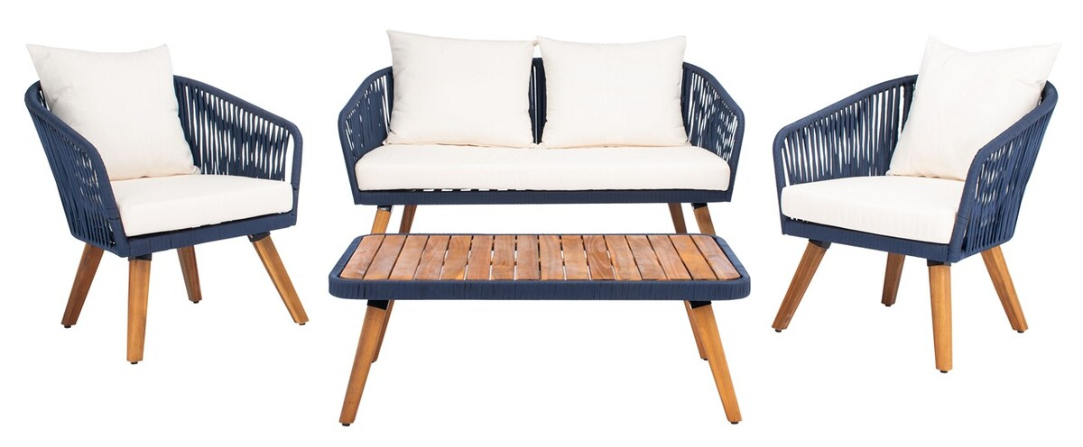PAT7074E Patio Sets - 4 Piece - Furniture by Safavieh on Safavieh Ransin id=74320