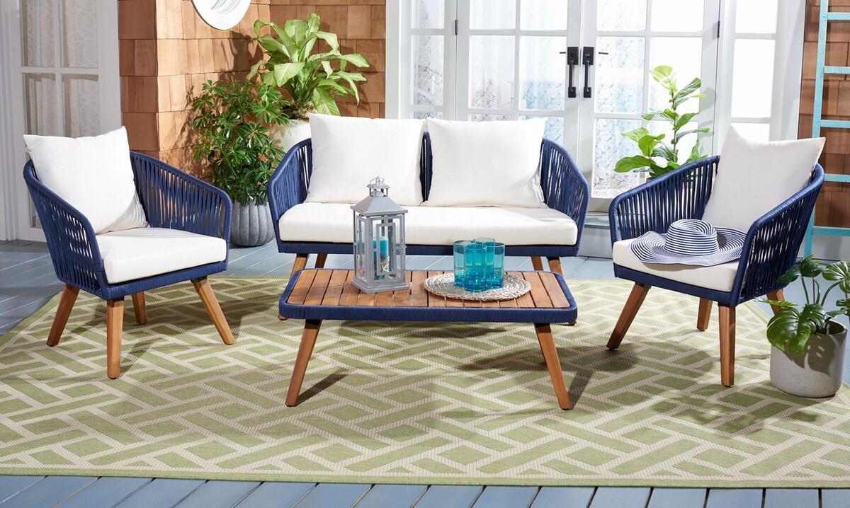 PAT7074E Patio Sets - 4 Piece - Furniture by Safavieh on Safavieh Ransin id=91234