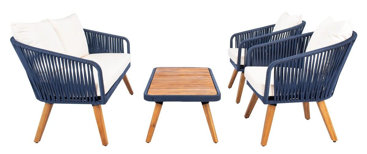 PAT7074E Patio Sets - 4 Piece - Furniture by Safavieh on Safavieh Ransin id=46003