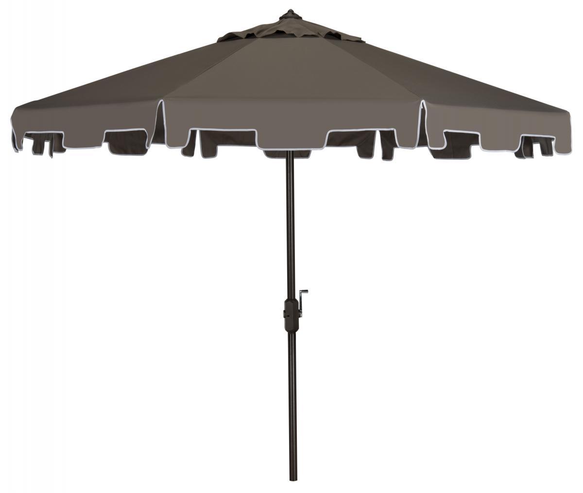 Grey Patio Umbrella Outdoor Furniture Safavieh Com
