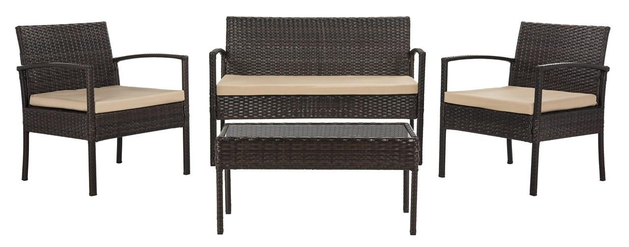 Admirable Pat9001A Patio Sets 4 Piece Furniture By Safavieh Home Interior And Landscaping Ferensignezvosmurscom