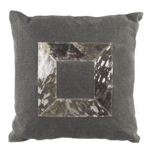 GRAYER METALLIC COWHIDE  Pillow