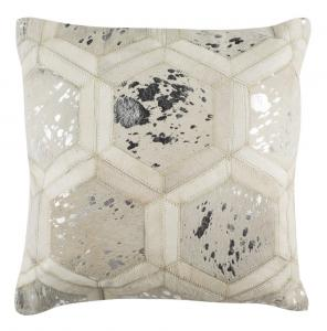 MAGGIE METALLIC COWHIDE  Pillow