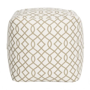 CHARLES INFINITI POUF Item: POF1001C Color: Grey / White