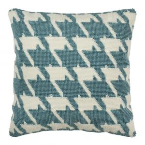teal accents blue twist a standard textured modern collections pillow contemporary enjoy cotton by chandra on pillows white unique main the
