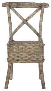 KATELL WICKER SIDE CHAIR Item: SEA7032C SET2 Color: GREY