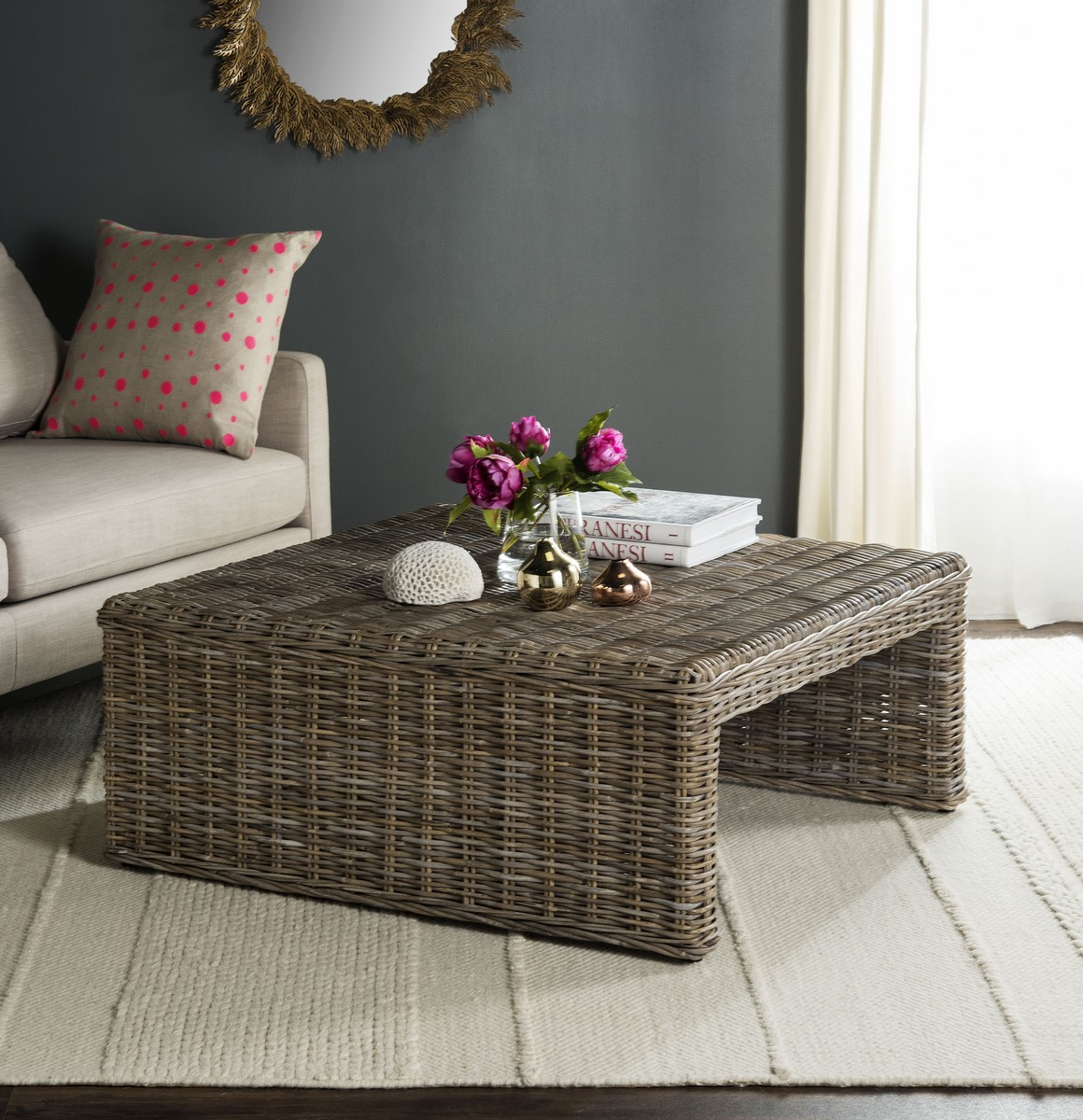 Rustic And Casual, This Artisan Woven Natural Rattan Side Table Is The  Perfect Complement To Contemporary Rooms. Crafted Of Sustainable Kubu Rattan  And ... Part 11