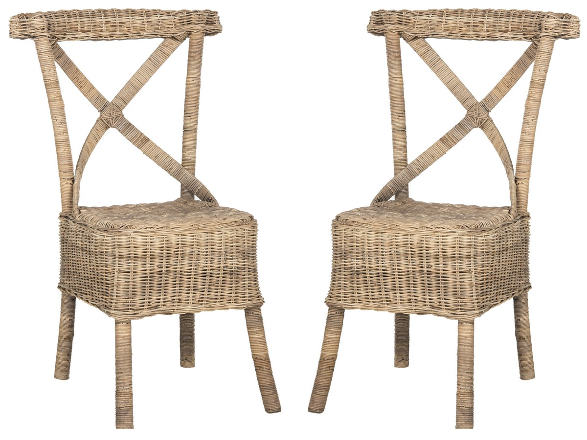 KATELL WICKER SIDE CHAIR SEA7032A SET2 DINING CHAIRS