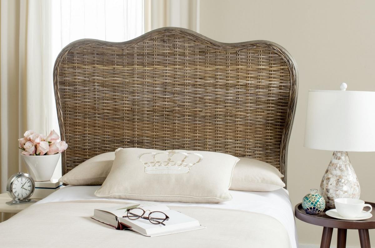 imelda grey headboard headboards furniture by safavieh. Black Bedroom Furniture Sets. Home Design Ideas