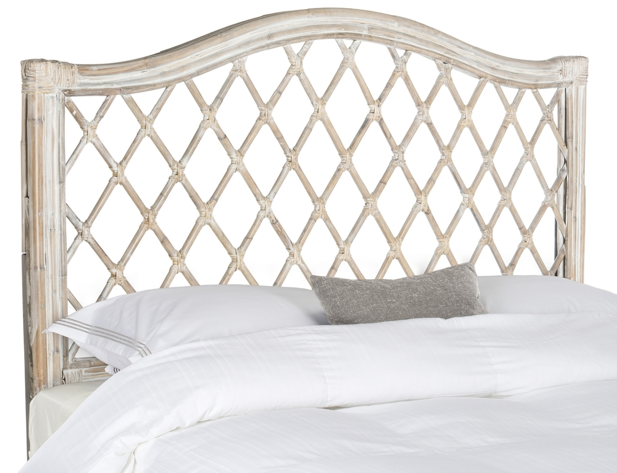 Gabrielle Antique Grey Wicker Headboard Headboards