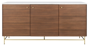 Dark Wood Mirrored Credenza : Sideboards & buffet tables safavieh couture furniture