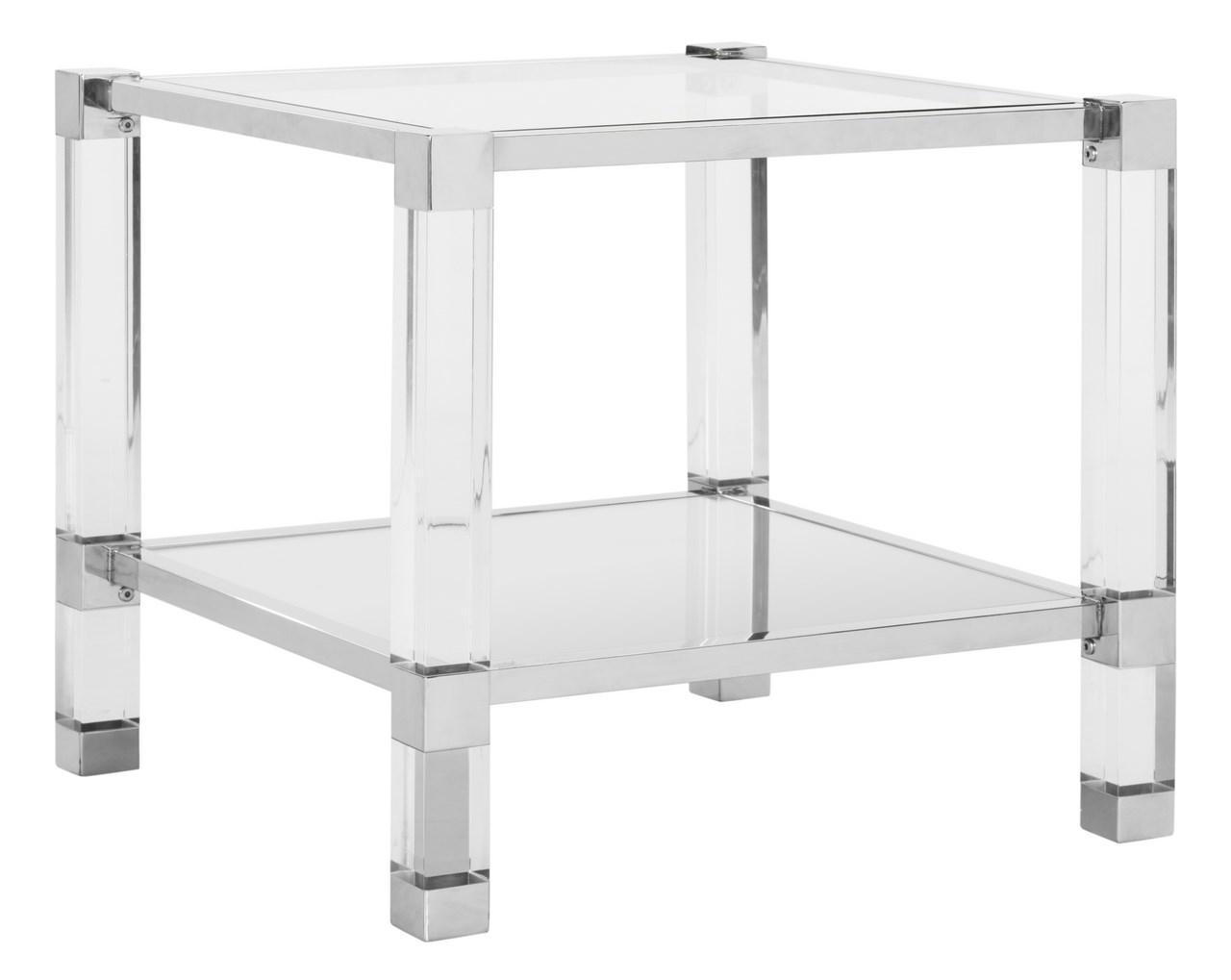 Inspired By The First Reigning Runway Divas, The Angie End Table Brings  Style, Substance, And Character To Any Room. Chrome, Glass And Acrylic  Details ...